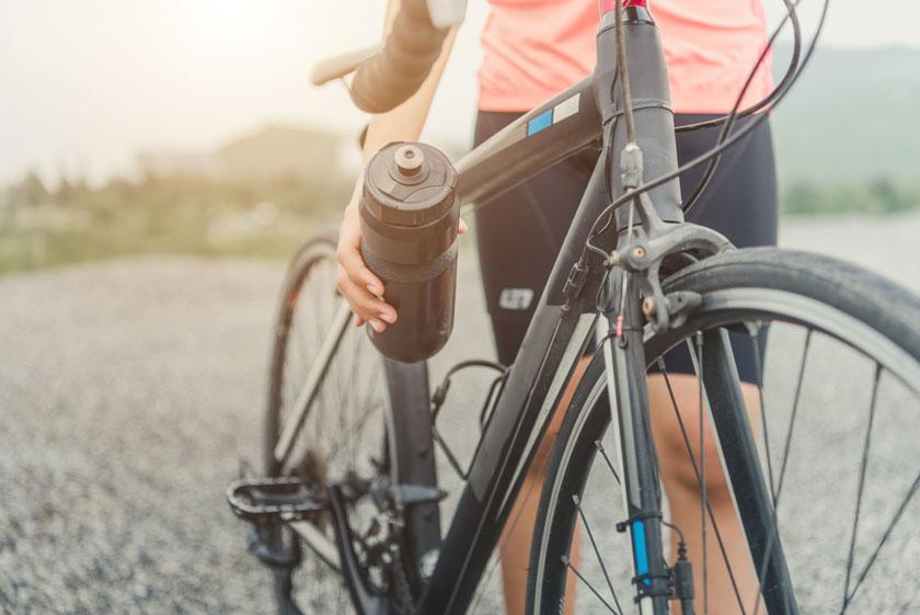 Fahrrad Trinkflasche Halterung am Fahrrad